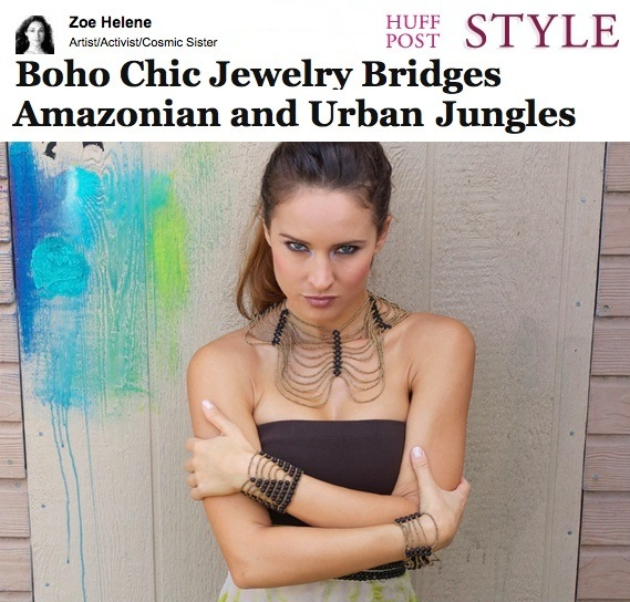 Huffington Post Style features ORG by vio Boho Jewelry & Amazon Artisans work